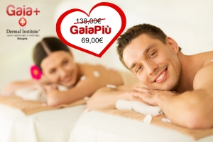 smiling couple lying on massage table in spa salon
